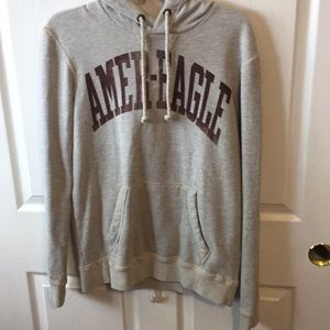 American Eagle outfitters hoodie light gray.